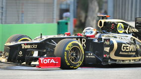 Kimi赛跑在F1新加坡GP的Raikkonen 图库摄影