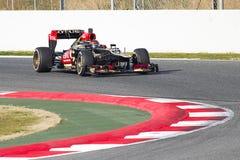Kimi Raikkonen配方1莲花E21 免版税库存照片