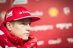 Kimi Raikkonen Феррари 2015 Стоковые Изображения RF