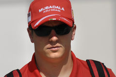 Kimi Raikkonen. Close up of Kimi Raikkonen at Malaysian Grand Prix Royalty Free Stock Images