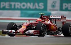 Kimi Raikkonen av Ferrari Royaltyfri Fotografi