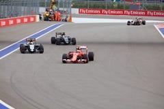 Kimi Raikkonen av Scuderia Ferrari Formel en Sochi Ryssland Fotografering för Bildbyråer