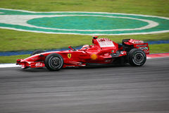 Kimi Raikkonen, equipe de Scuderia Ferrari Malboro F1 Imagem de Stock Royalty Free