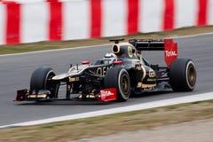 Kimi Raikkonen F1 2012 - Lotos Drużyna F1 - Obrazy Royalty Free