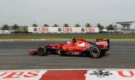 Kimi Raikkonen Ferrari Στοκ φωτογραφία με δικαίωμα ελεύθερης χρήσης