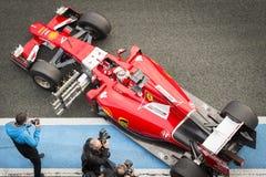 Kimi Raikkonen Ferrari 2015 Fotos de archivo libres de regalías