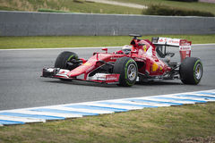 Kimi Raikkonen Ferrari 2015 Fotografía de archivo
