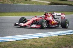 Kimi Raikkonen Ferrari 2015 Fotografia Stock