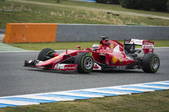 Kimi Raikkonen Ferrari 2015 Immagine Stock