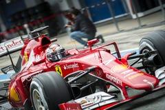 Kimi Raikkonen Ferrari 2015 Stock Fotografie