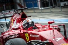 Kimi Raikkonen Ferrari 2015 Fotografia Stock Libera da Diritti
