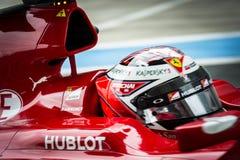 Kimi Raikkonen Ferrari 2015 Foto de archivo libre de regalías
