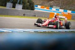 Kimi Raikkonen Ferrari 2015 Fotografie Stock Libere da Diritti