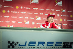 Kimi Raikkonen Ferrari 2015 Immagini Stock