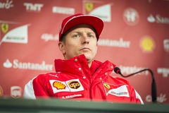 Kimi Raikkonen Ferrari 2015 Stock Afbeeldingen