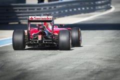 Kimi Raikkonen Ferrari 2015 Royalty-vrije Stock Afbeeldingen
