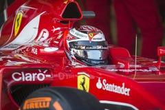Kimi Raikkonen Ferrari 2015 Fotografie Stock