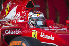 Kimi Raikkonen Ferrari 2015 Arkivfoton