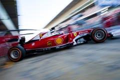 KIMI RAIKKONEN (FERRARI) - PROV F1 Royaltyfria Bilder