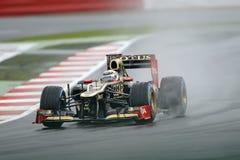 Kimi raikkonen, lotusbloem F1 Stock Fotografie