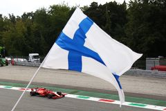 Kimi Raikkonen in Monza F1 Grand Prix 2018 stock photo