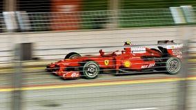 Kimi Raikkonen qualifying at Singapore F1 2009 Royalty Free Stock Photo