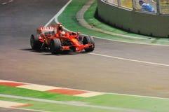 Kimi Raikkonen's Ferrari Car In Singapore F1 2008 Stock Photography