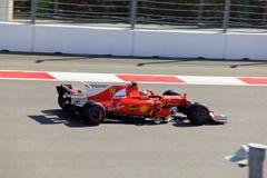 Kimi Raikkonen Scuderia Ferrari Formuła Jeden Sochi Rosja Zdjęcie Royalty Free