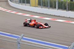 Kimi Raikkonen Scuderia Ferrari Formuła Jeden Sochi Rosja Obraz Stock