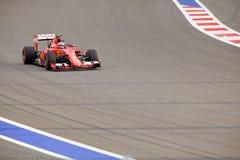 Kimi Raikkonen of Scuderia Ferrari. Formula One. Sochi Russia Royalty Free Stock Photo