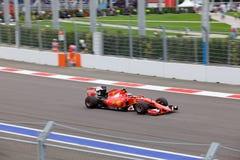 Kimi Raikkonen of Scuderia Ferrari. Formula One. Sochi Russia Stock Images