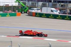 Kimi Raikkonen of Scuderia Ferrari. Formula One. Sochi Russia. Sochi, Russia - September 30, 2018: Kimi Raikkonen of Scuderia Ferrari F1 team racing at the race stock images