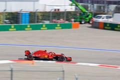 Kimi Raikkonen of Scuderia Ferrari. Formula One. Sochi Russia. Sochi, Russia - September 30, 2018: Kimi Raikkonen of Scuderia Ferrari F1 team racing at the race stock photos