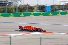 Kimi Raikkonen of Scuderia Ferrari. Formula One. Sochi Russia. Sochi, Russia - September 30, 2018: Kimi Raikkonen of Scuderia Ferrari F1 team racing at the race stock image