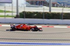 Kimi Raikkonen Scuderia Ferrari Formula 1 Sochi Ρωσία Στοκ φωτογραφία με δικαίωμα ελεύθερης χρήσης