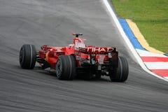 Kimi Raikkonen, squadra di Scuderia Ferrari Malboro F1 immagini stock libere da diritti