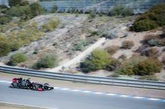 Kimi Raikkonen Test Driving his new Lotus F1 car Stock Photos