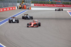 Kimi Raikkonen von Scuderia Ferrari Formel 1 Sochi Russland stockbild