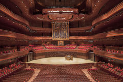 Kimmel Center, Verizon Hall, Philadelphia. The Dobson pipe organ in Verizon Hall Stock Image