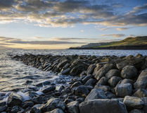 Kimmeridge Bay. The remains of Clavell's Pier at Kimmeridge Bay - Dorset Royalty Free Stock Images