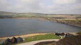 Kimmeridge Bay Dorset coast England uk stock video