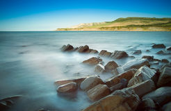 Kimmeridge Bay morning seascape Royalty Free Stock Images