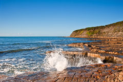 Kimmeridge Bay seascape with rocks Stock Photo