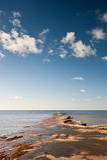 Kimmeridge Bay seascape with rocks Stock Photo
