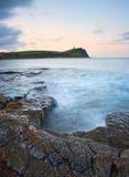 Kimmeridge Bay sunrise landscape, Dorset England Stock Photos