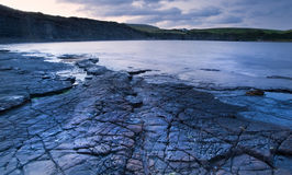 Kimmeridge Bay sunrise landscape, Dorset England Royalty Free Stock Photos