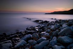 Kimmeridge sunset Stock Photo