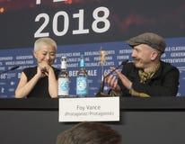 Kimmie Kim i Foy Vance przy Berlinale 2018 obraz stock