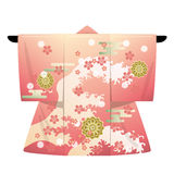 Kimono. This graphic is Japanese kimono Royalty Free Stock Photo