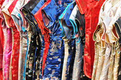 Kimono. Traditional colorful Japanese kimonos for sale Royalty Free Stock Images